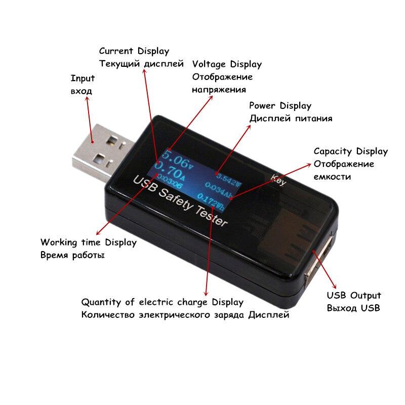 5V 9V 12V 30V USB áram- és feszültségtöltő kapacitásmérő QC - Mérőműszerek - Fénykép 3