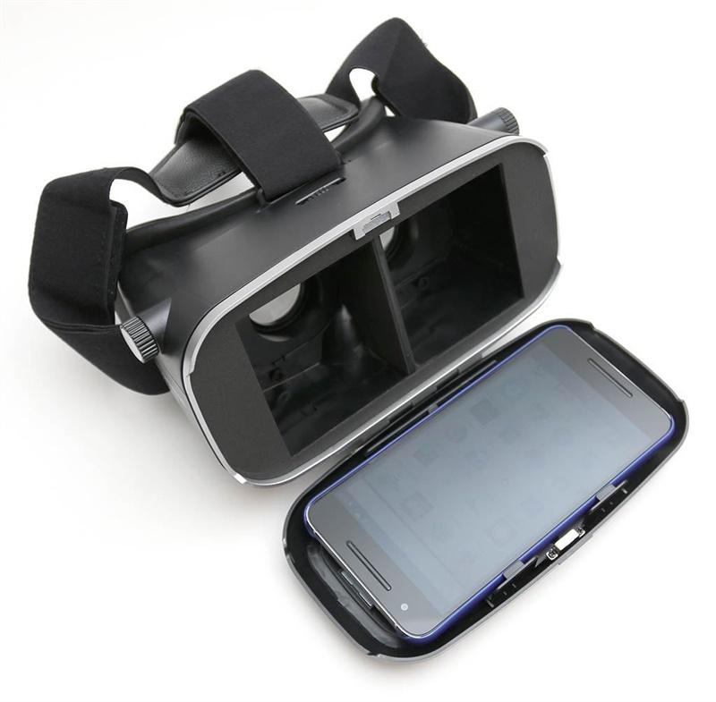 18 Original Shinecon VR Pro Virtual Reality 3D Glasses Headset VRBOX Head Mount Google Cardboard Helmet For Smartphone 4-6inch 30