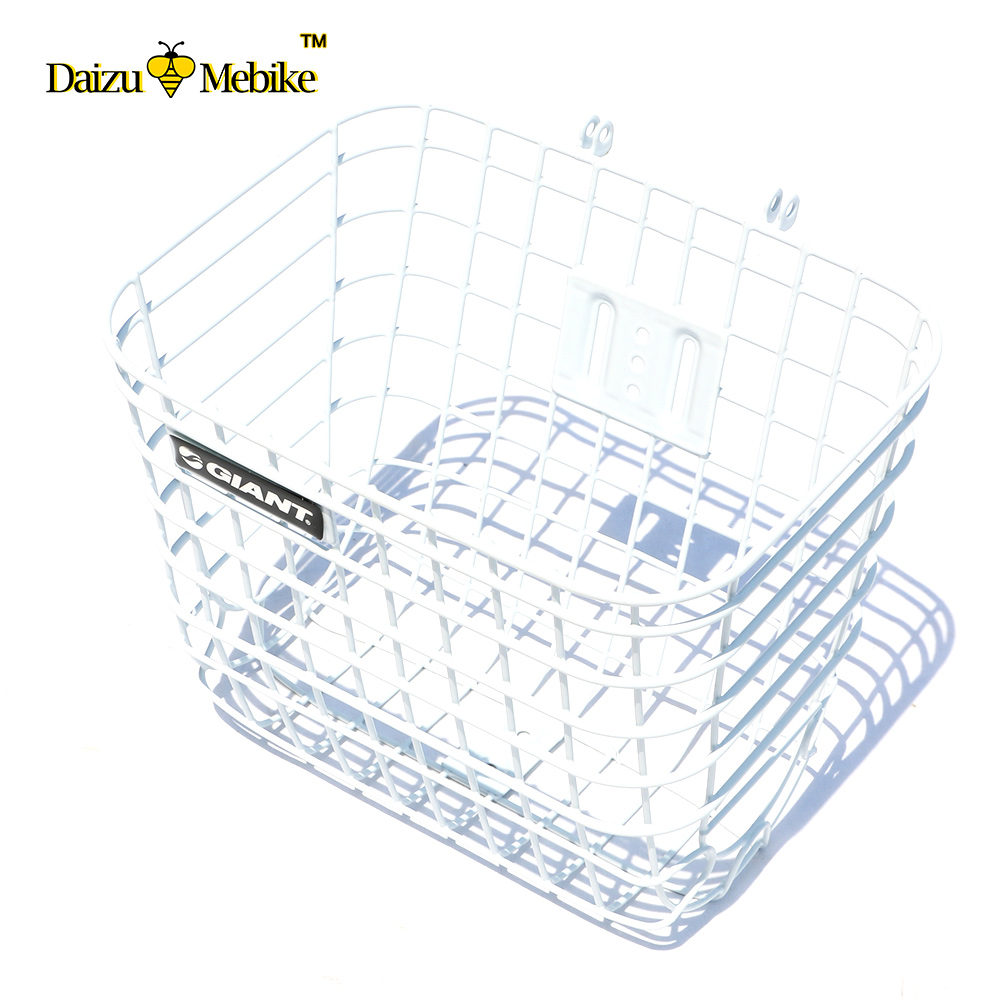 White Bike Bicycle Basket with Cover Lid Large Capacity Steel Mesh Basket Bag Riding Cycling Accessories exerpeutic 1000 magnetic hig capacity recumbent exercise bike for seniors