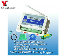 YobangSecurity 3G GSM GPRS SMS Data Analog Logger Wireless GSM Remote Controller 4 Input 1 Relay