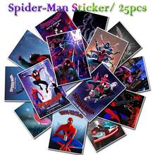 25 PCS NEW Marvel Anime Cartoon Stickers Spider-Man Into The Spider-Verse Poster Sticker Sets for Laptop Fridge Phone Guitar(China)