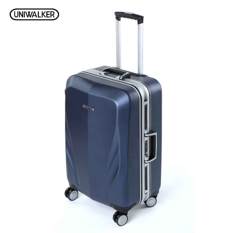 Алюминиевая рама + PC чемодан, 20 22 24 28 дюймов высокого качества Anticollision прокатки багажа, TSA замок дорожный ящик Hardside багажа