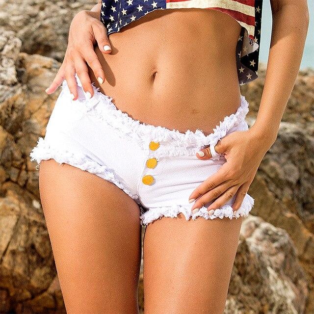 1pcs Womens Sexy super denim shorts 2019 Summer denim cotton small pocket shorts Ladies Skinny Sexy club super short jeans Girls 4