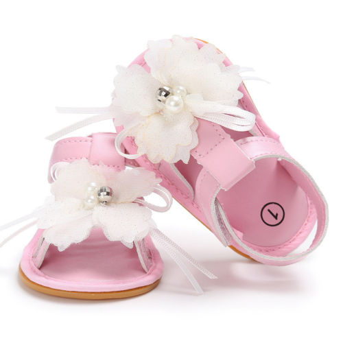 3f3025ab53d6 Toddler Newborn Flower Soft Sole Anti-slip Baby Sandal Foothold Sneakers  Sandal Hook Casual Shoe Girl Crib Shoes cx