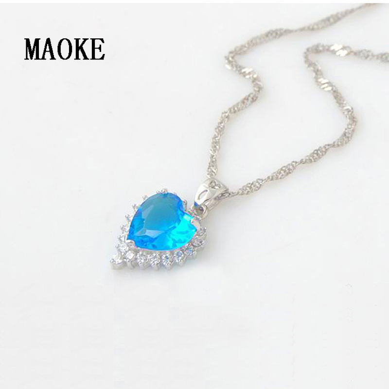 Promotional S925 Silver Jewelry Ocean Heart Pendant Fashion Jewelry for Women's Fashion Gifts