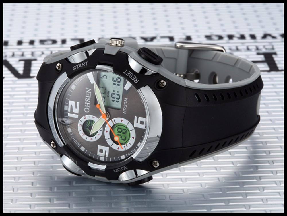 Original Ohsen Brand Fashion Sports Men's Watches 30M Waterproof Rubber Black Rubber Band Digital Sport Wristwatch for Men Gift (34)