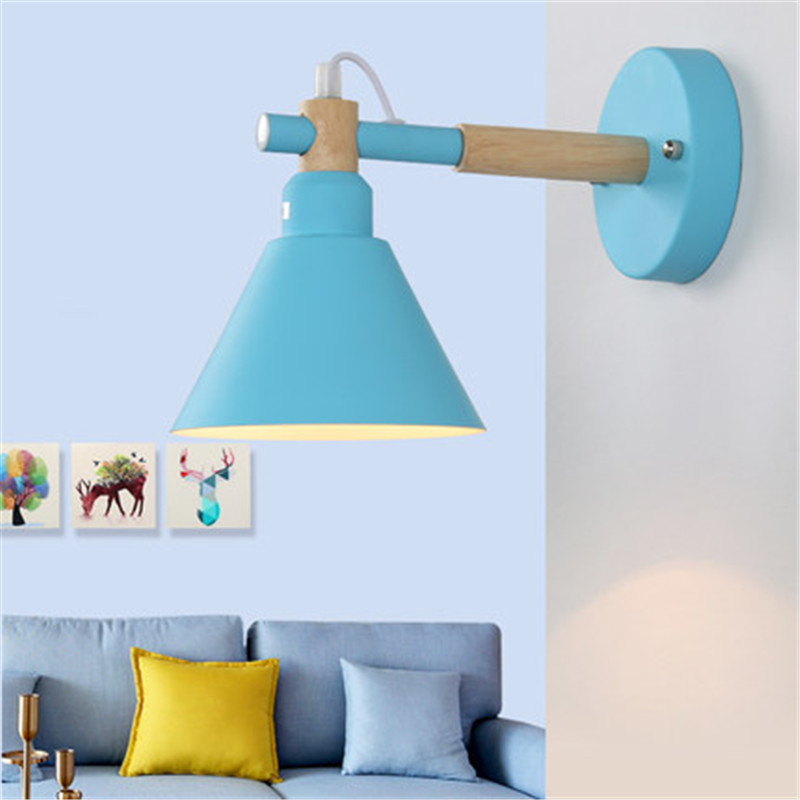 Loft Style Wood Iron Modern LED Wall Light Fixtures Industrial Wind Wall Sconce Bedroom Bedside Wall Lamp Decorate Lighting цена