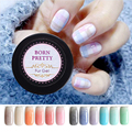 BORN PRETTY 1 Bottle Long Lasting Color Gel Faux Fur Effect Nail Gel Soak Off UV LED Nail Art Gel Polish Manicure 12 Colors