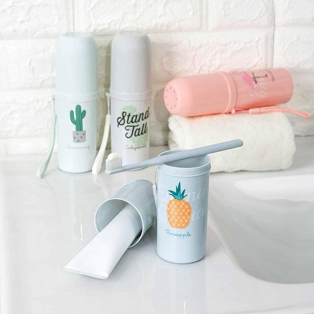 Przenośne podwójnego zastosowania podróży uchwyt na szczoteczki i pastę do zębów czapka przypadku gospodarstwa domowego kubek do przechowywania uchwyt na zewnątrz akcesoria łazienkowe