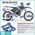 BLUE CNC New MX Motocross Offroad Bling Kits for Yamaha YZ-F YZF 250 YZ250F 2014 2015 YZF 450 YZ450F 10 11 12 13 14 15