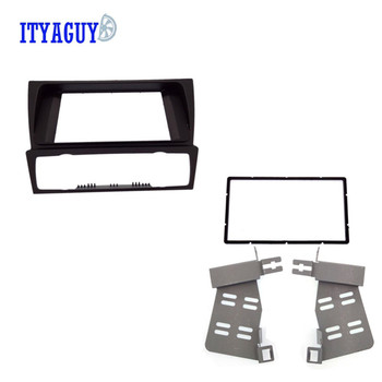Car 2Din DVD Radio fascia frame for BMW 3 Series E90 91 92 93 2004-2012 Radio DVD Stereo CD Panel Dash Fascia Face Plate Frame image