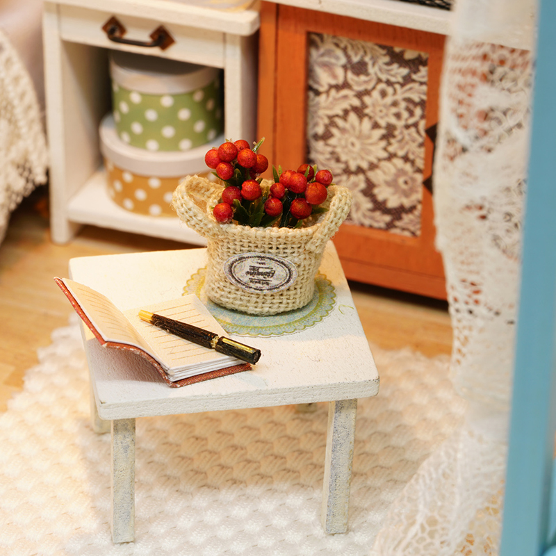 CUTEBEE-Doll-House-Miniature-DIY-Dollhouse-With-Furnitures-Wooden-House-Toys-For-Children-Birthday-Gift-Z007-4