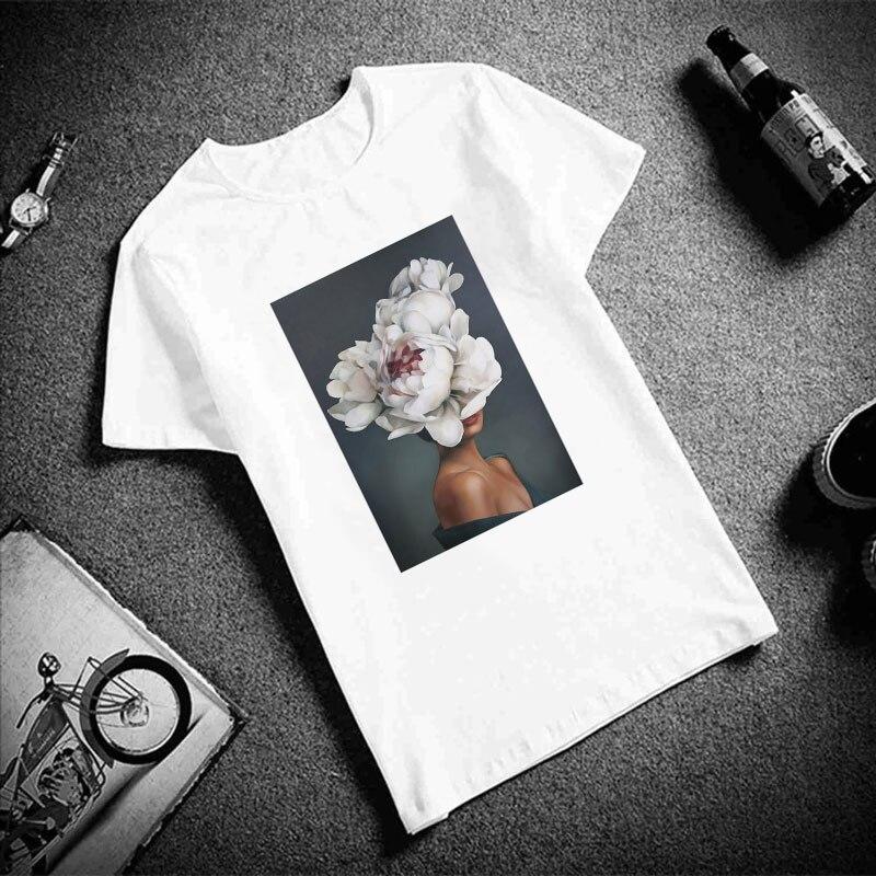 Женская винтажная блузка, белая рубашка шифоновая, с принтом, на лето, 2019