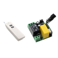AC 220V 1CH 10A Relay Receiver Transmitter RF Remote Control Switch Wireless Controller 315 433 Long