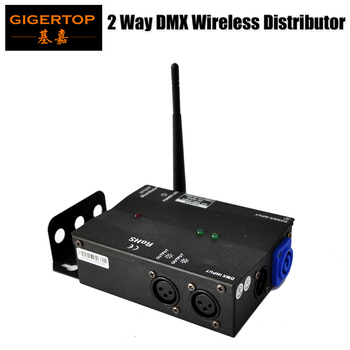 Multiple Installation Methods 2DMX Distributor with 2.4G Wireless DMX High Voltage Protection Independent Input and Output Signa