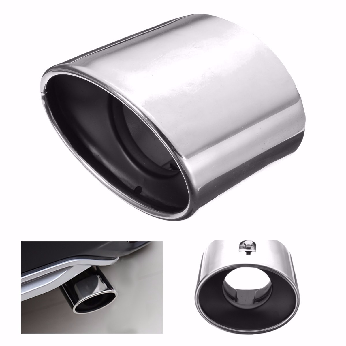 Chrome Stainless Steel Exhaust Tip Tail Pipe Muffler For Honda Accord 2008 2012