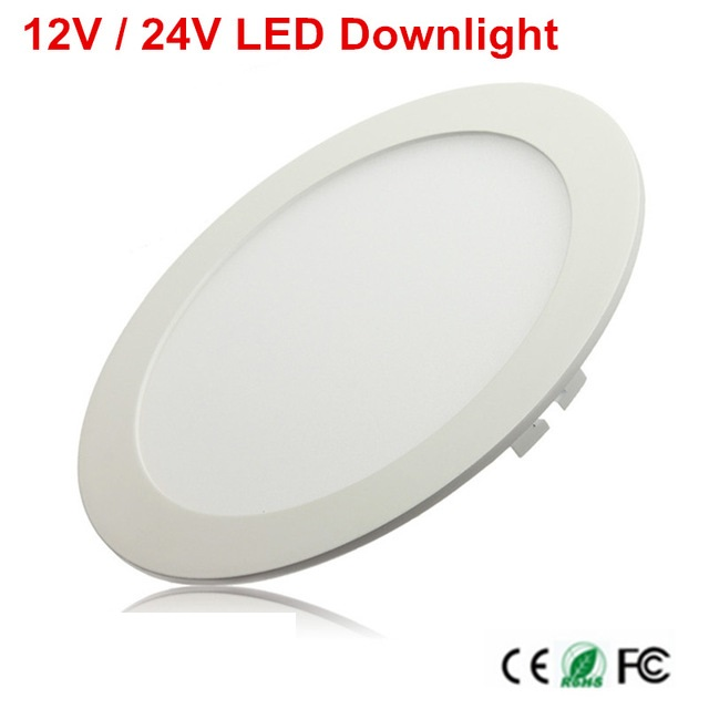 1pcs LED Ceiling Panel Light 3W 4W 6W 9W 12W 15W 25W High Brightness LED Downlight With Adapter AC/DC 12V 24V Indoor Light
