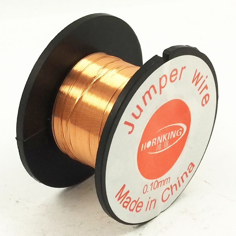 DGKS 0.1MM Copper Soldering Solder PPA Enamelled Repair Reel Wire Fly Line 0.1MM Copper Solder Wire Free Shippng
