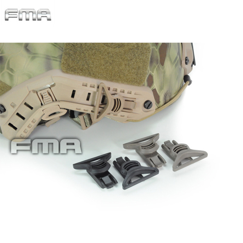 FMA Fast Helmet Goggle Swivel Clips Big Size Glasses Buckle with Side Rails Military Combat Tactical Helmet Accessories okulary wojskowe