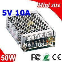 Ms-50-5 50 W 5 V 10A tamaño Mini LED fuente de alimentación conmutada transformador 110 V 220 V AC a DC 5 V salida