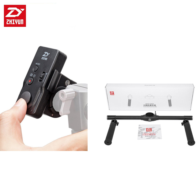 Zhiyun Dual Handheld Grip for Crane 2 3 Axis Handheld Stabilizer / Zhiyun ZW B02 Wireless Thumb Remote Control