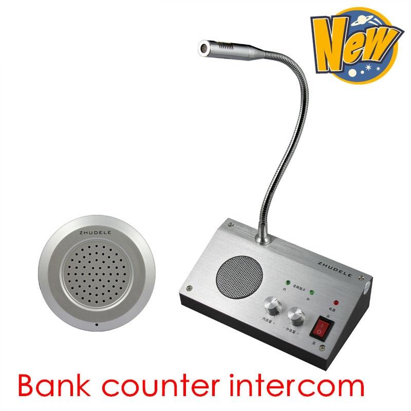 Audio Intercom Vereinigt Zhudele Dual-weg Zähler Sprech Fenster Intercom System Für Bank Krankenhaus Bus Station Ticket & Bargeld Fenster Eisenbahn Station