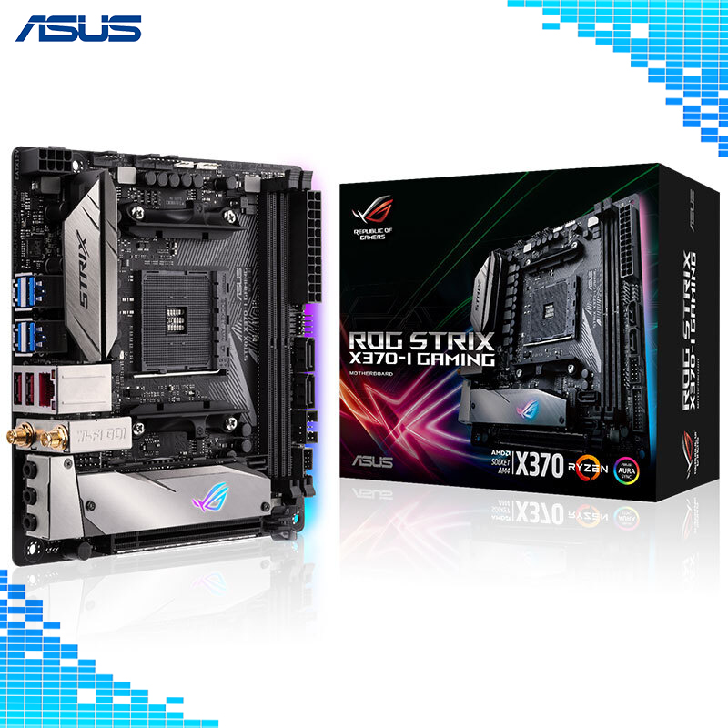 Asus ROG STRIX X370-I GAMING Desktop Motherboard AMD X370 Chipset Socket AM4 32G DDR4 motherboard монитор 27 asus rog strix xg27vq черный 90lm03g0 b01970