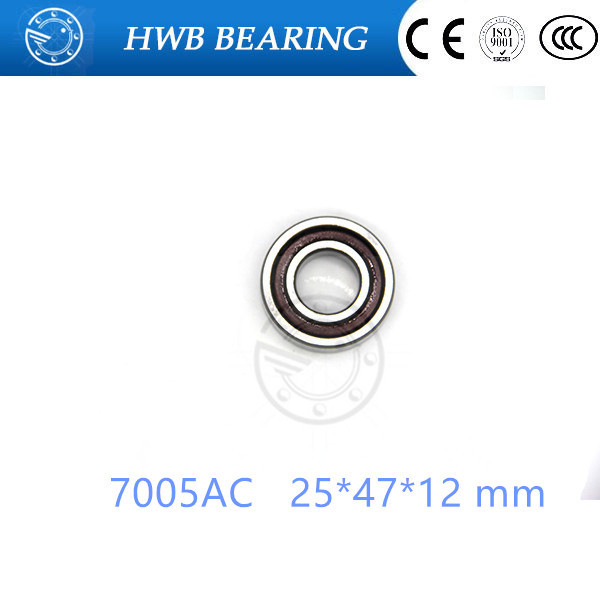 25mm Spindle Angular Contact Ball Bearings 7005ac SUPER PRECISION BEARING ABEC-5  7005AC 25x47x12mm 1pcs 71901 71901cd p4 7901 12x24x6 mochu thin walled miniature angular contact bearings speed spindle bearings cnc abec 7