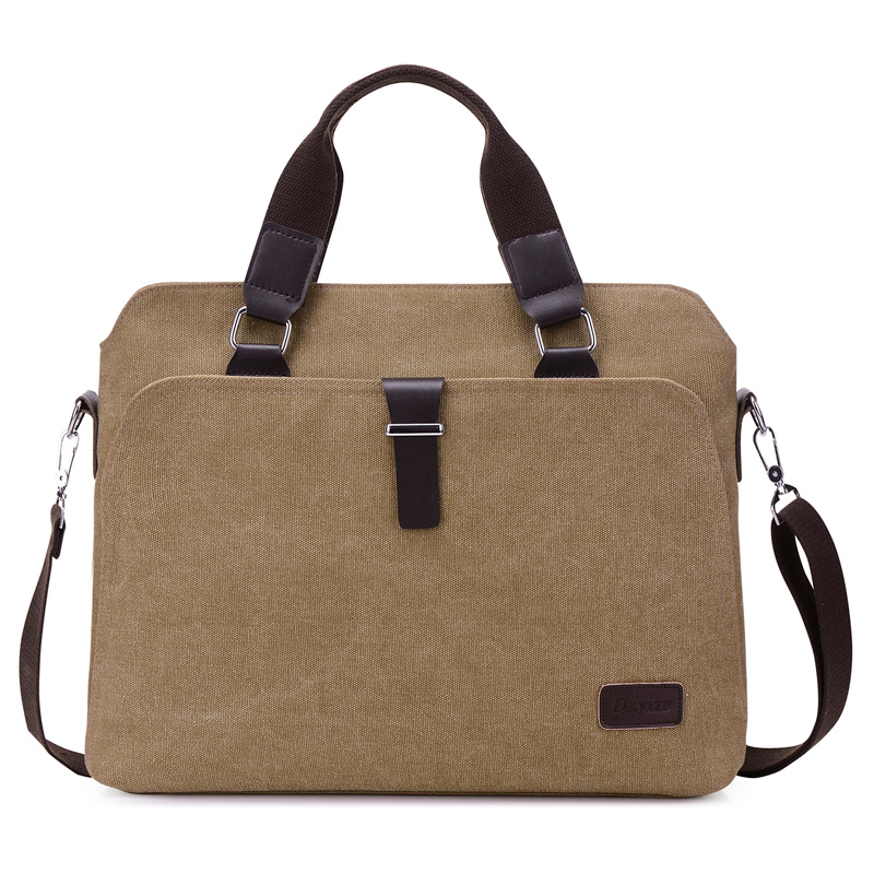 Nieuw Heren Aktetassen Big Business Heren Messenger Bags Canvas Handtassen Reizen Cross-Body Tassen Mannen Schoudertassen Zwart