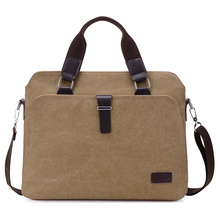 New Male Briefcases Big Business Men Messenger Bags Canvas Men's Handbags Travel Cross-Body Bags Men Shoulder Bags Black