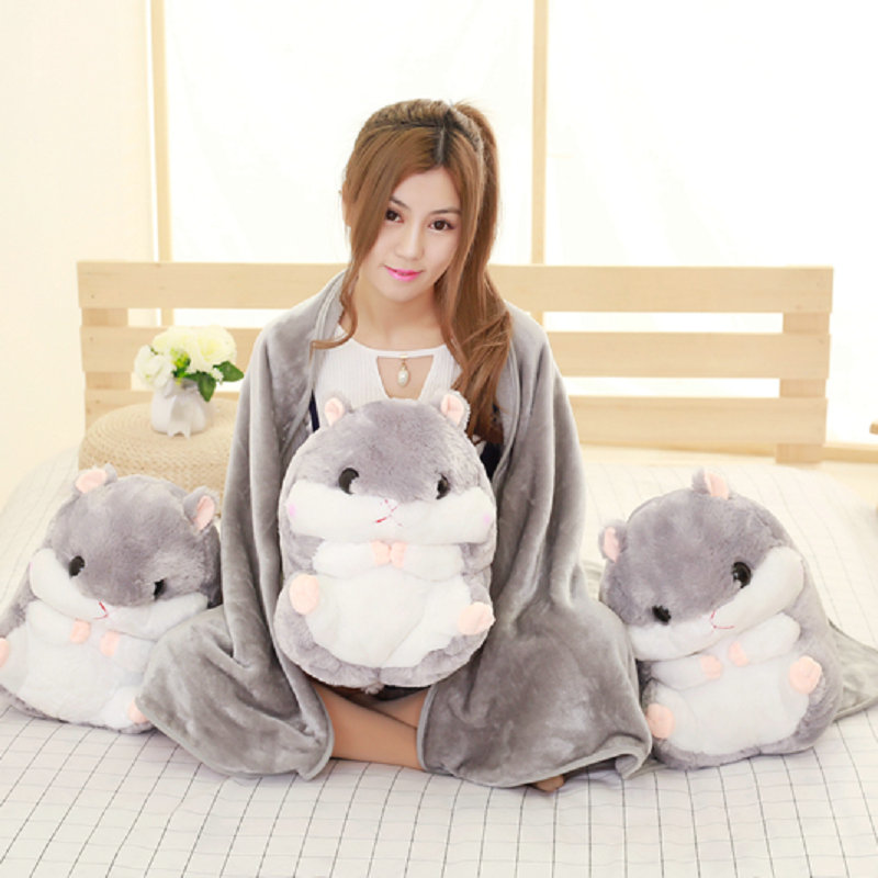 big size Cute Mouse plush toys gray Hamster pillow Plush cushion cloth doll stuffed plush animals kids toys baby birthday gift rare big barbapapa pillow round cushion funny face barbapapa plush toys creative birthday gift