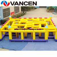 Vancen 10*10*2m commerical arena inflatable maze obstacle course funny sport game inflatable maze castle for rental