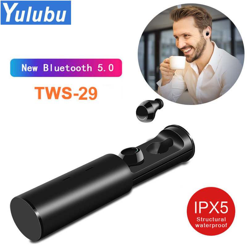 Touch TWS29 IPX5 Waterproof Bluetooth 5.0 True Wireless Earbuds Mini Touch Stereo Control Earphones with Charging Box for Xiaomi