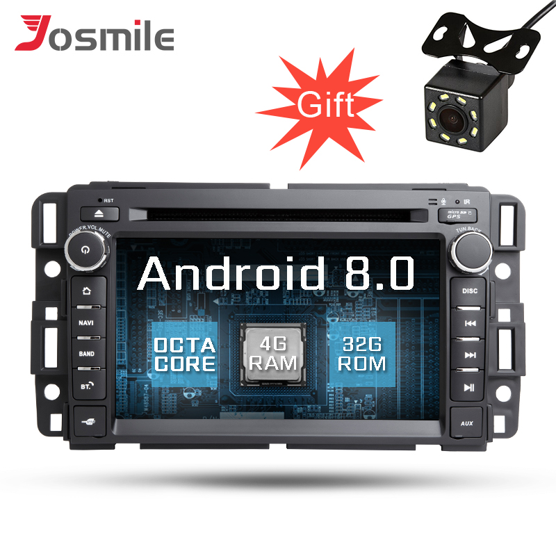 Autoradio Android 8.0 pour Buick Enclave/GMC YUKON/Sierra/ACADIA lecteur DVD GPS Octa Core 32G ROM écran capacitif Wifi OBD FM