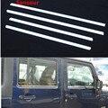 Sansour стальная Нижняя оконная рама обшивка подоконника 4 шт для Jeep Wrangler Rubicon 2007-2016 2 двери 4 двери