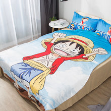 1pcs ONE PIECE Summer Cool blanket air conditioning comforter children Adult Anime Monkey D. Luffy blanket Cool in summer(China)