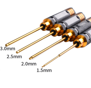 Image 3 - RC Werkzeuge 4 stücke hex schraube fahrer set titanium beschichtung gehärtet 1,5 2,0 2,5 3,0mm schraubendreher Für Rc hubschrauber rc spielzeug (1 set)