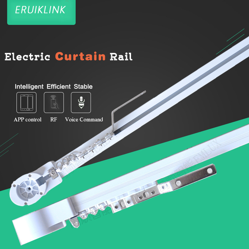 US $57 47 50% OFF|WIFI Electric Curtain Motor, ewelink app / remote control  voice control via alexa echo and google home for smart home-in Automatic
