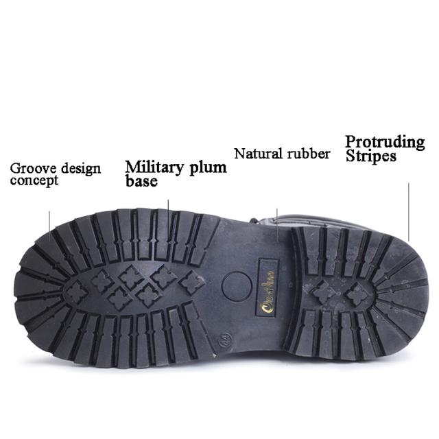 OUDINIAO Army Boots mężczyźni High Military Combat buty metalowe klamry punk Mid Calf mężczyzna buty motocyklowe koronki up Mężczyźni Buty Rock