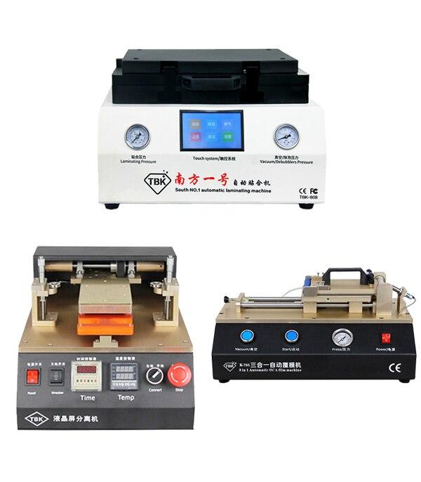Full Set TBK 808 Automatic OCA Vacuum Laminating Machine+ Automatic OCA Film Laminating +Automatic LCD separator machine