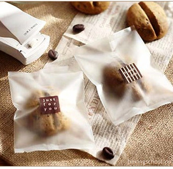 100pcs 8.5x11cm Simple Style Heat Seal Cookie Packaging Bag For Bakery Gift Biscuits Candy Muffin Packing