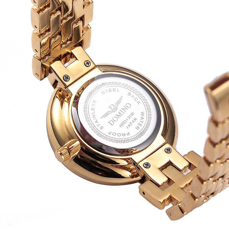 MISSFOX Hitam Sederhana Perhiasan Wanita Mode Kasual Merek Gaya Minimalis Menonton DW Uhr Wanita Emas Jam Tangan Untuk Wanita Jam