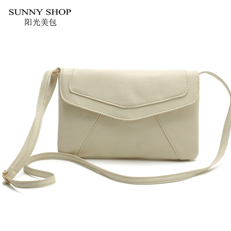 SUNNY SHOP Casual Vintage Envelope Bags For Women 2018 Small Leather Shoulder Bag Flap Cover Candy Color Messenger Bag 8 Colors