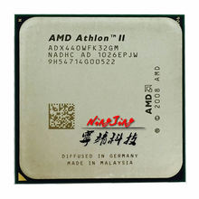 Procesador de CPU AMD Athlon II X3 440, 3 GHz, Triple núcleo, ADX440WFK32GM, enchufe AM3