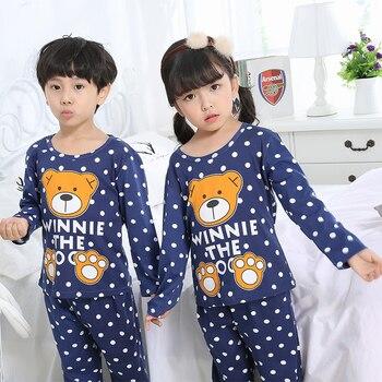 418e8abc8411 Conjunto de pijamas para niños primavera chico Casa de ropa de niños de  dibujos animados lindo de manga larga ropa de dormir 2018 nuevo estilo las  Niñas ...