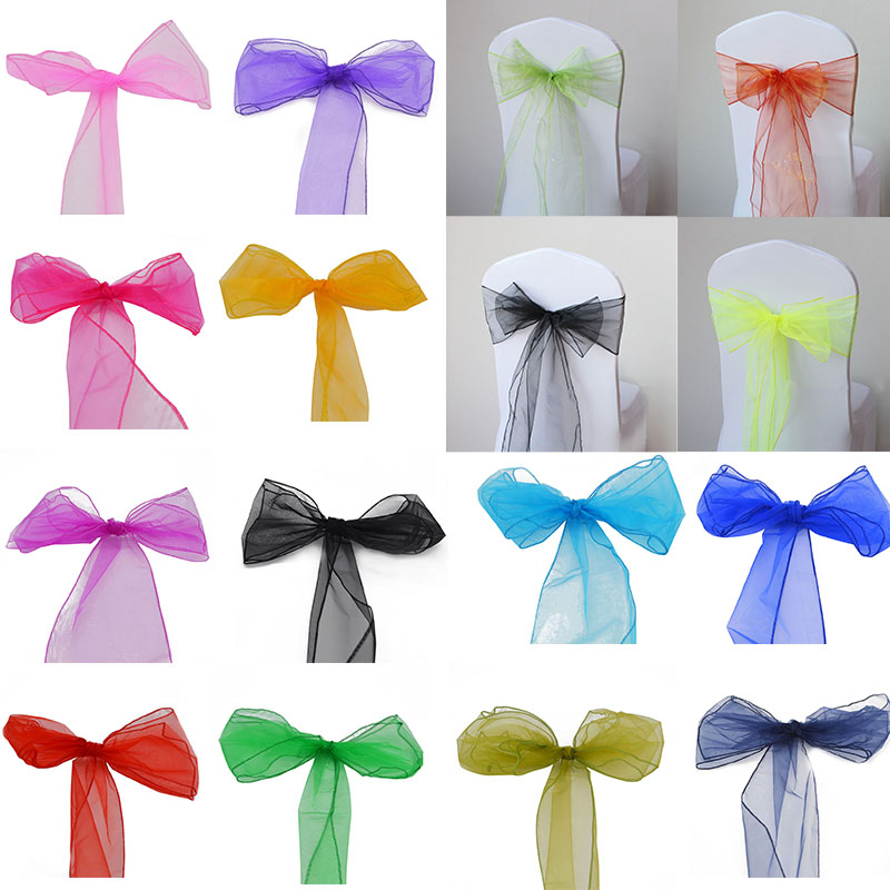 16*275cm Sheer Organza Tulle Multi-use Wedding Chair Sash Bow Table Runner Christmas Party DIY Decoration Banquet Swag Supplies