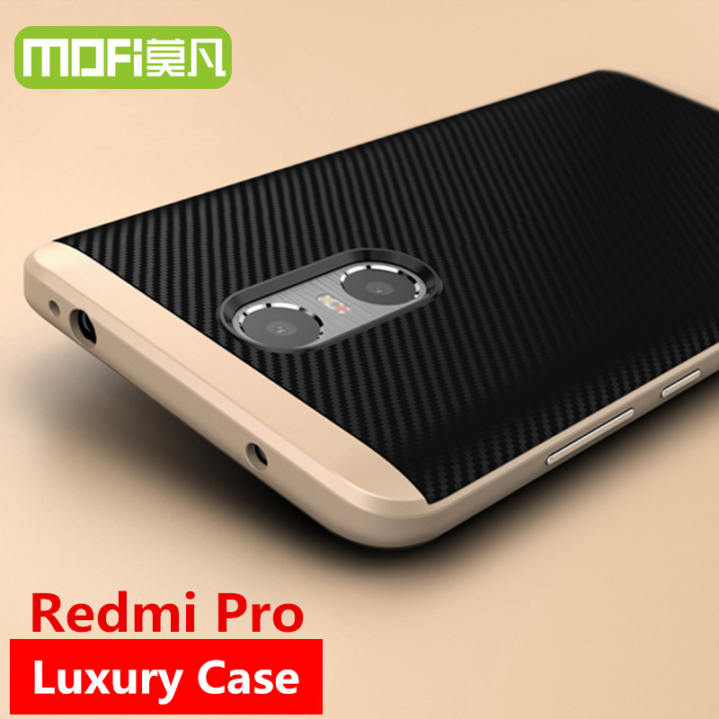 Galleria fotografica <font><b>Redmi</b></font> caso Pro 5.5 della copertura MOFi <font><b>Xiaomi</b></font> <font><b>Redmi</b></font> Pro prime caso silicona tpu della copertura posteriore Xiomi mi Red pro caso originale 32 gb 64 gb