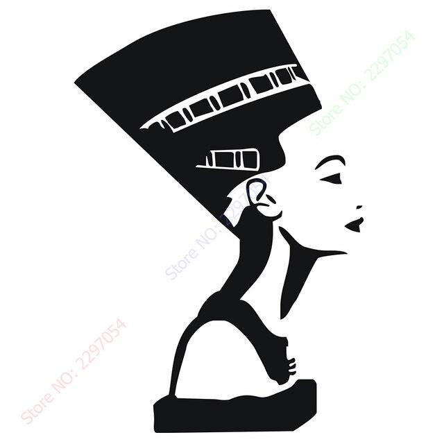 Simbol Mesir Kuno Ratu Neferi Interior Desain Gadis Dinding Decal Vinyl Stiker R Tidur Ruang Tamu Dekorasi Rumah