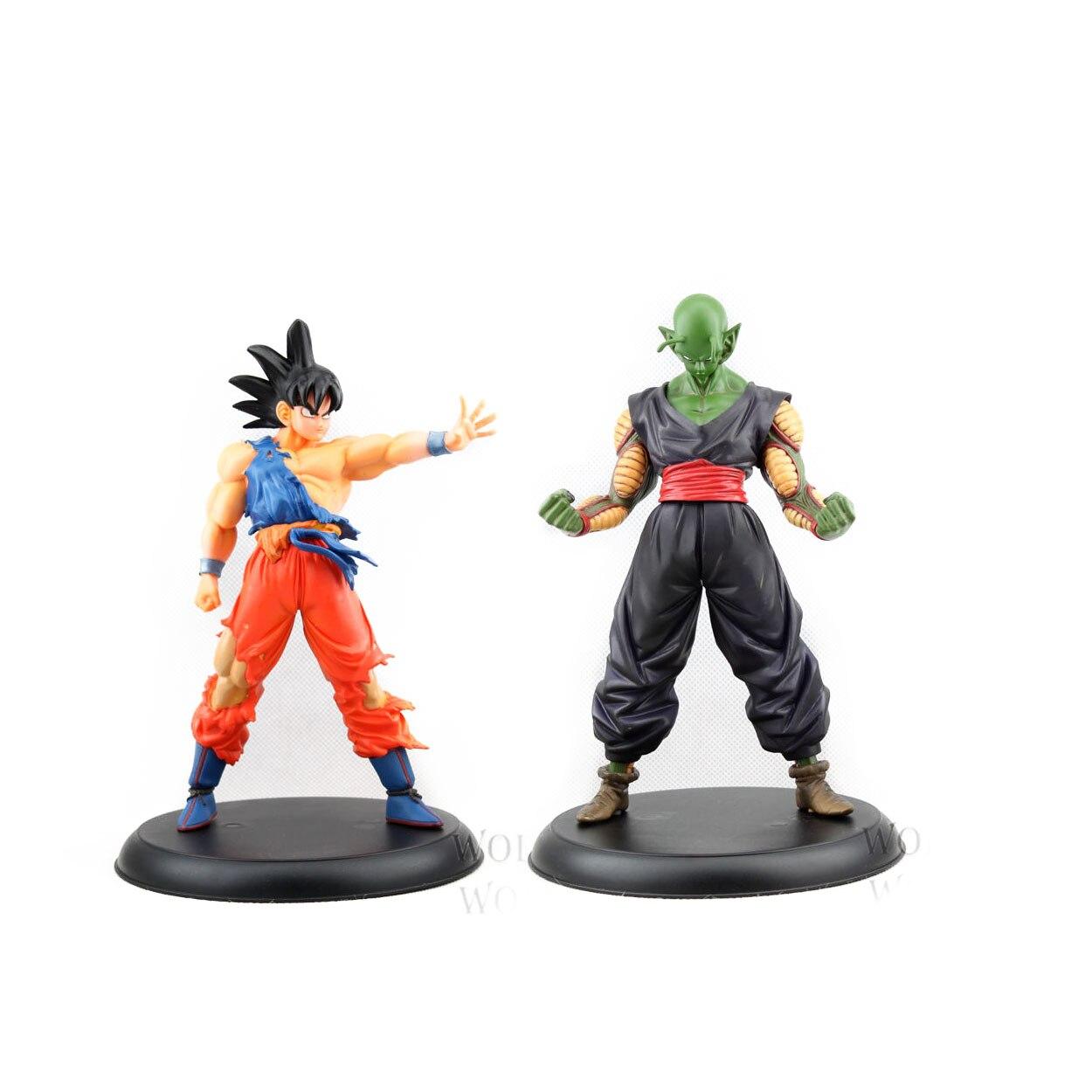 Chanycore 20CM 2pcs/set Dragon Ball Z Tenkaichi Budokai Action Figures Toy Son Goku Piccolo DX Figure Anime Action Figure fighting budokai action figure