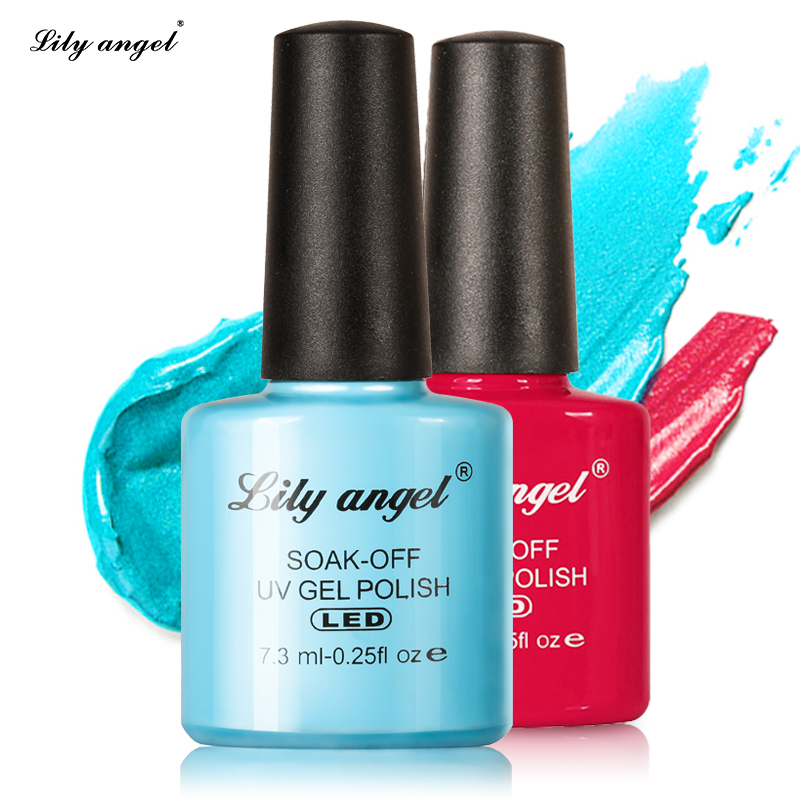 LILY ANGEL 2018 New  Nail Art Design Manicure  110 Color 7.3Ml Soak Off Enamel   Gel Polish LED UV Gel Nail Polish Lacquer